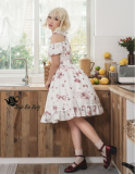 Chocolate bunnies~Printing Daily Lolita Dress/Doll Dress with Short Sleeves