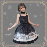 Little fox buy gloves~Printing Daily Lolita Jsk Dress