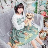 The little squirrel~Printed Lolita Jsk Dress