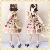 Cookies~Print High Waist Lolita Jsk Dress