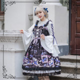 Blue Enchantress~Printed Lolita Jsk Dress