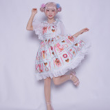 pocky~Print Sweet Lolita Jsk Dress
