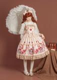Gift box bear~Print High Waist Lolita Jsk Dress