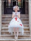 Bride's fairy dress~Pure White Court Bride Lolita Jsk Dress