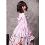 Miss Animal's Flower Grove Party ~Print Lolita Dress with Long Sleeve