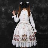 Three Musketeers ~Print Lolita OP Dress With Long Sleeve