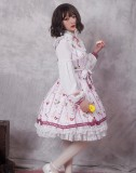 Miss coffee cup animals ~Print Lolita OP Dress with Long Sleeve