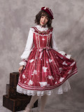 Autumn's Notepaper~Print Lolita Jsk Dress
