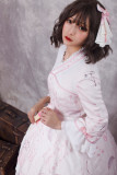 Zi Jin ~Vintage Print Lolita OP Dress with Long Sleeve/Qi Lolita