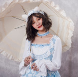 Magic tea party~Print Lolita OP Dress with Long Sleeve