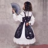 Zi Jin ~Vintage Print Lolita Jsk Dress/Qi Lolita two-piece Dress