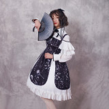 Zi Jin ~Vintage Print Lolita Jsk Dress/Qi Lolita two-piece Dress