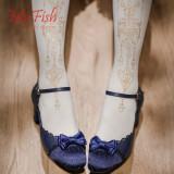 【MuFish】Pendant Rose 120d Velvet Lolita Tights