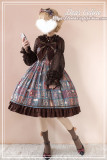 Aisha's magic book~High Waist Print Lolita Jumper skirt