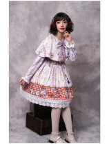Cookie rabbit~Print Lolita Jsk Dress with Cape