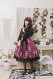 Alice girl~Picture frame cat with bead chain normal waist Lolita Jumper dress