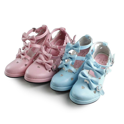 Pointed Lolita Princess Shoes with Heart-shaped hollow out
