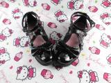 Lolita Custom Princess low heels shoes With bows