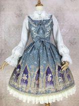 Dream spirit~Elegant Printing Lolita Jumper Skirt