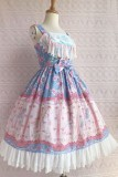 Rose a Trojan~Elegant  Printing Lolita Jumper Skirt