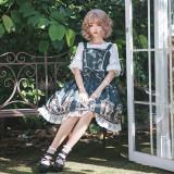 Notte Stellata~Printing Sweet Lolita Jumper skirt