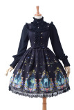 Swan lake~Sweet Printing Lolita Jumper Skirt