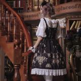 Gem droplight~Printing Gothic Lolita Jumper Skirt