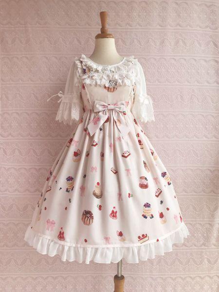 Berry sweetheart~Sweet Printing Lolita Jumper Skirt