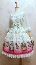 Chunting meow~Sweet Printing Lolita Jumper Skirt
