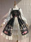Peacock cross~Elegant Vintage Printing Lolita Jumper Skirt