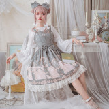 The test of pea kyi~Printing Sweet Lolita Jumper skirt