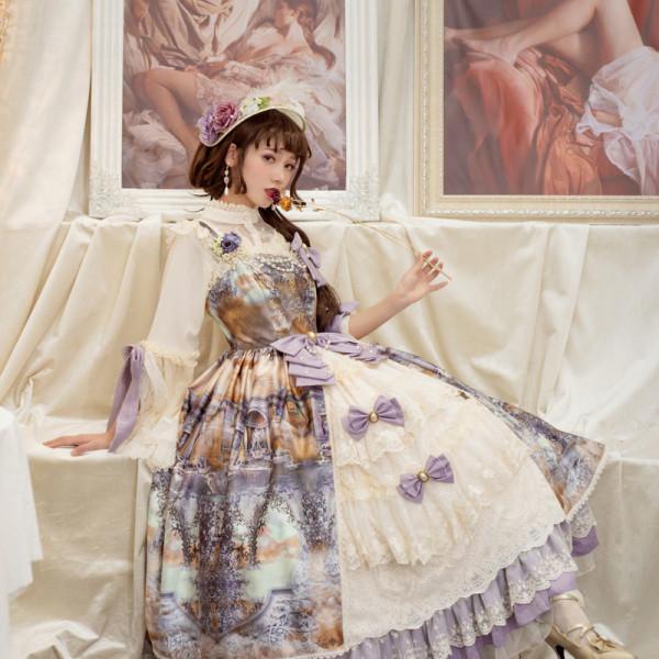 Evening of the gods~Elegant Vintage Lolita Jumper Skirt