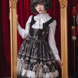 Louis poker city~Printing Gothic Lolita Jumper skirt