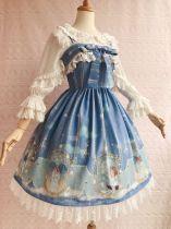 Aurelia blessing~Elegant Printing Lolita Jumper Skirt