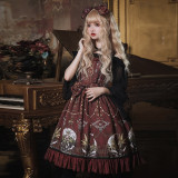 The altar of the moon~Printing Gothic Lolita Jumper skirt