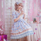 Milk sweetheart~Sweet Lolita Dress with Short Sleeves