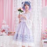 Lake Gairdner~Printing Sweet Lolita Jumper skirt