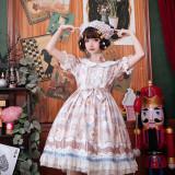Milk sweetheart~Sweet Lolita Dress with Short Sleeves