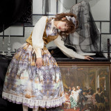 Evening of the gods~Elegant Vintage Lolita Skirt