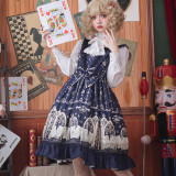 Louis poker city~Printing Gothic Lolita Jumper skirt