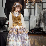 Evening of the gods~Elegant Vintage Lolita Vest