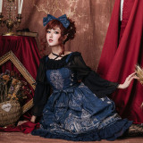 The city of elk~Printing Sweet Lolita Jumper skirt