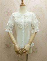 Doll collar chiffon lace Lolita blouse