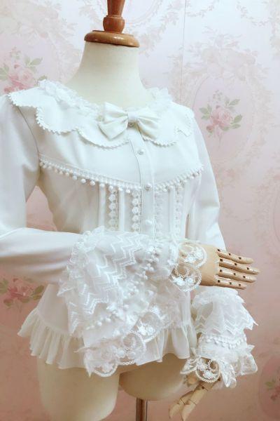 Retro lace flared sleeve blouse Lolita blouse