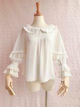 Lovely chiffon doll collar Lolita blouse
