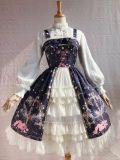 Cotton Jacquard Stand Collar Lolita Long Sleeve Blouse