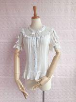 Elegant puff sleeve and chiffon lace lolita blouse