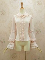 Double-layer lace collar  with gorgeous flounces Lolita blouse