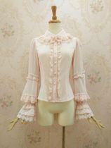 Double-layer lace collar  with gorgeous flounces Lolita blouse