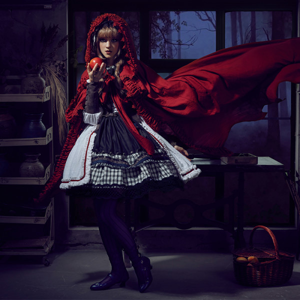 Classical puppets*The Wolfing little red riding hood* lolita op dress fullset